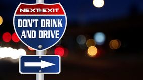 Don't drink and drive road sign stock footage