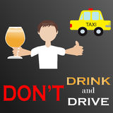 Don't drink and drive Royalty Free Stock Images