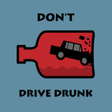 Don't drive drunk Stock Image