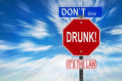 Don't Drive Drunk It's The Law Royalty Free Stock Photography