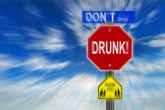 Don't Drive Drunk Thank You Stock Photography