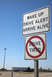 Don't drive tired Stock Photography