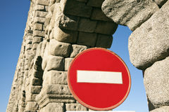Don't enter - Aqueduct Stock Image
