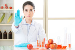 Don't ever try it, the gmo food is not the cure. For human food problem Stock Images
