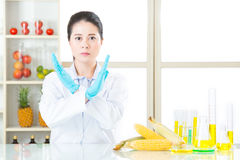 Don't ever try it, the gmo food is not the cure for human. Food problem Royalty Free Stock Photos