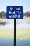 Don't feed the alligators Royalty Free Stock Photos