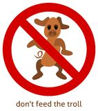 Don´t feed the troll Stock Photos