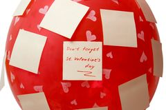 Don't forget. Don't  forget. St. Valentine's day Royalty Free Stock Photography