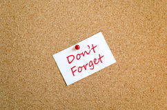 Don't Forget Note Concept Stock Photography