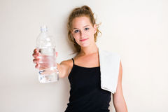 Don't forget ot hydrate. Stock Photo