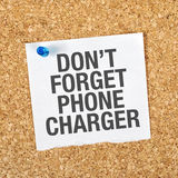 Don't Forget Phone Charger Stock Image