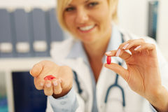 Don't forget about the pills Royalty Free Stock Photography
