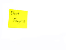 Don't forget on post it note Royalty Free Stock Images