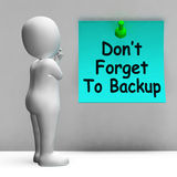 Don't Forget To Backup Note Means Back Up Data Royalty Free Stock Images