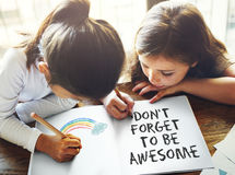 Don`t Forget to be Awesome Do Your Best Good Work Concept royalty free stock images
