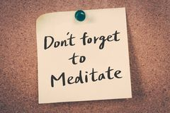 Don`t forget to meditate Stock Photo