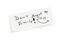 Don't forget to smile! Stock Images