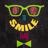 Don't forget to smile! Motivational background Stock Photo