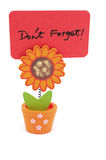 Don't forget. Words written on red paper of sun flower pot clip Royalty Free Stock Photography