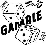 Don't Gamble Royalty Free Stock Images