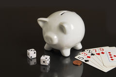 Don't Gamble Your Savings Away Royalty Free Stock Photography