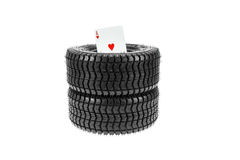 Don't Gamble with Your Tires Royalty Free Stock Photos