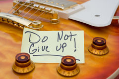 Don't Give Up Royalty Free Stock Photo