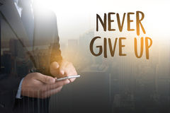 Don't Give up i will try Inspiration , you can do it Never Sto Stock Images