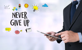 Don't Give up i will try Inspiration , you can do it Never Sto Royalty Free Stock Images