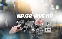 Don't Give up i will try Inspiration , you can do it Never Sto Stock Photo