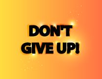 Don`t give up lettering. Editable vector illustration Royalty Free Stock Images