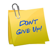 Don't give up message Stock Photography