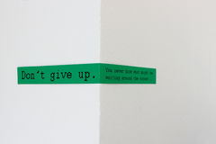 Don't give up - You never know what might be waiting around the corner Royalty Free Stock Photo
