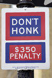 Don't honk street sign stock images