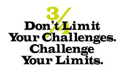 Don t Limit Your Challenges. Challenge Your Limits. Creative typographic motivational poster Royalty Free Stock Photo
