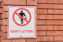 Don`t litter sign royalty free stock image