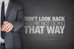 Don't look back.You're not going that way Royalty Free Stock Photo