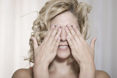 Don't look beauty portrait Stock Photos