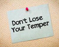 Don' t Lose Your Temper Message Stock Photos