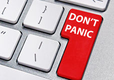 Don't panic Royalty Free Stock Photography