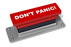 Don't Panic Button in Red Stock Photo