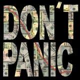 Don't panic with dollars Stock Photos