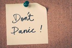 Don't Panic stock photo
