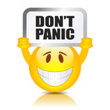 Don't panic sign Stock Image
