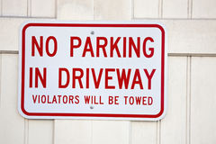 Don't park on driveway Stock Photography