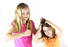 Don't pull my hair! Royalty Free Stock Photography