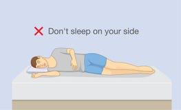 Don-` t Schlaf auf Ihrer Seite vektor abbildung