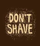 Don't shave funny illustration Royalty Free Stock Images