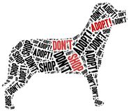 Don't shop, adopt. Animals or domestic pets adoption. Stock Photos