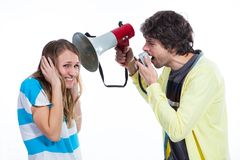 Don't shout on me please Royalty Free Stock Images